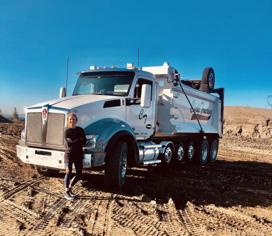 After driving for Asphalt Patch Systems to gain valuable industry experience, Looker became confident that she would have what it takes to own her own trucking company.