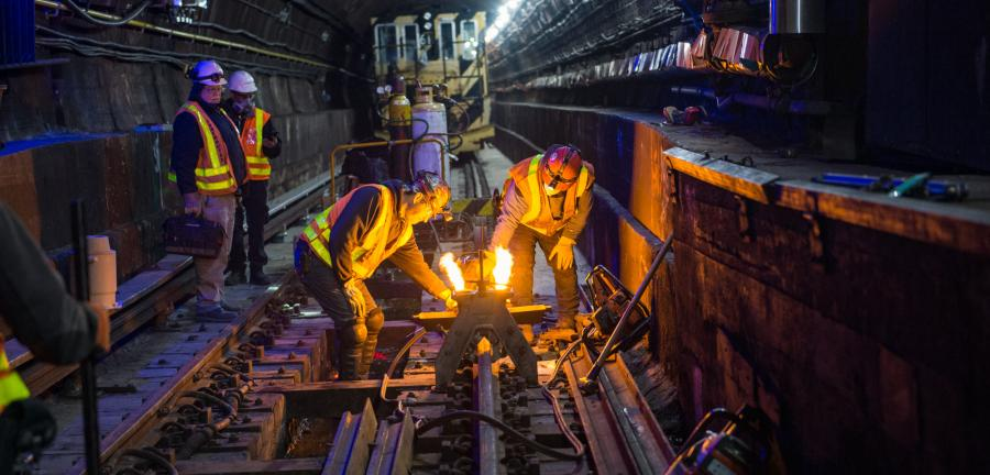 New York's L Project tunnel rehabilitation plan allowed NYC Transit to continue running subway service in the tunnel throughout the construction so regular weekday commutes of the vast majority of L customers between Manhattan and Brooklyn were not disrupted, including during the busiest times. (MTA photo)