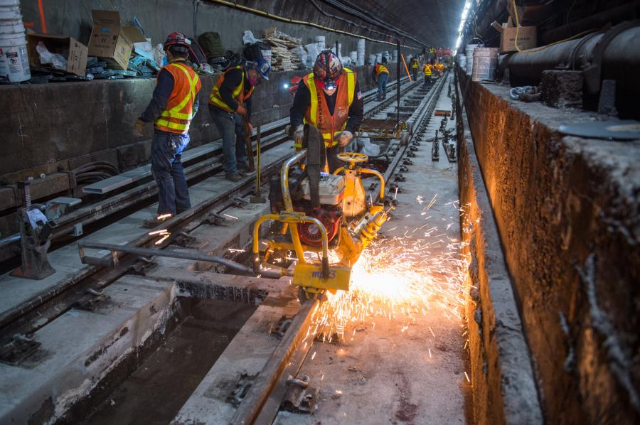 More work on the L Train tunnel. (MTA photo)