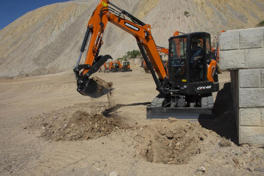 The new Doosan DX42-5K and DX50-5K mini excavators are designed with modifications to improve machine durability.