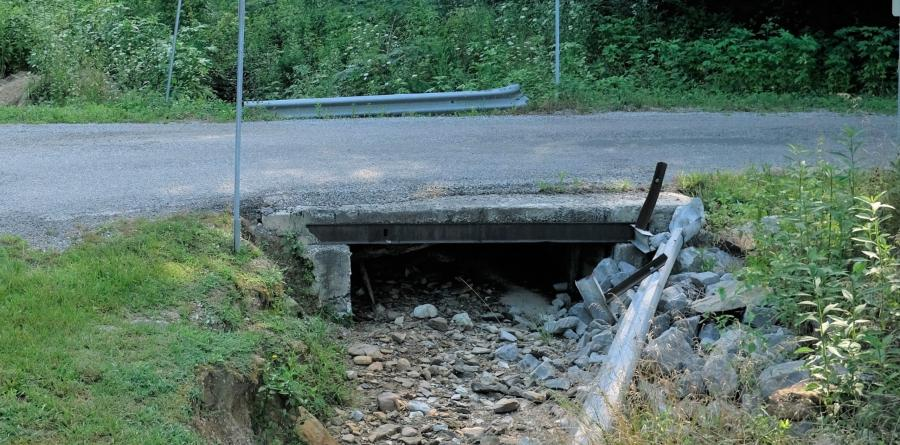 Located one-hour northwest of Knoxville on Elizabeth Church Road, the two-lane bridge has needed repair for many years, Morgan County Highway Superintendent Joe Henry Miller said. (The Institute for Advanced Composites Manufacturing Innovation photo)