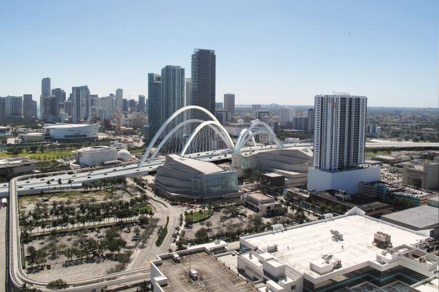 """I-395 will be reconstructed from the SR 836/I-395/I-95 [Midtown] Interchange to the MacArthur Causeway Bridge, including an iconic, six-arched signature bridge spanning more than 1,000 feet from west of NE 2 Avenue to east of Biscayne Boulevard,"" said Oscar Gonzalez, FDOT senior community outreach specialist.