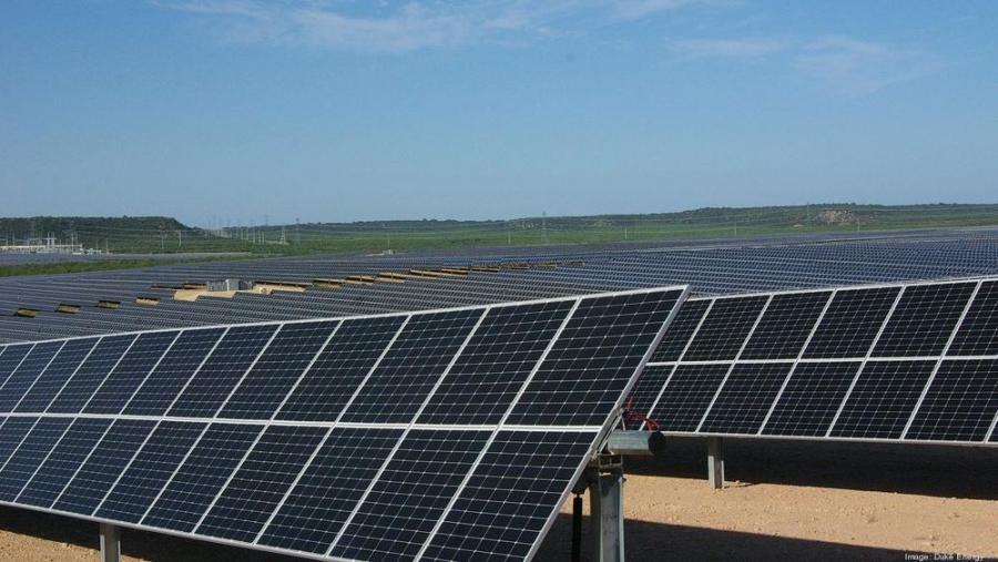 The Holstein Solar project contains over 709,000 solar panels across approximately 1,300 acres in Wingate.