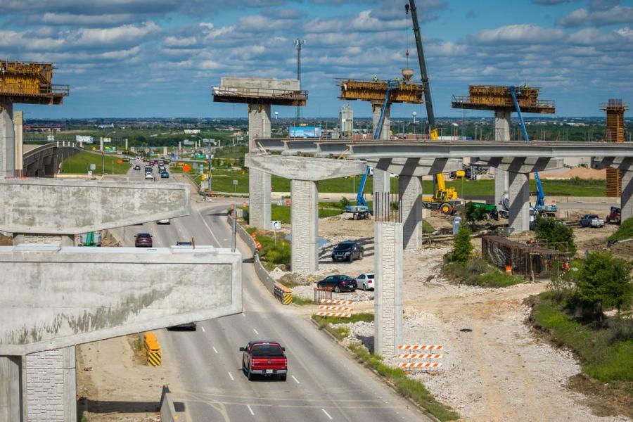 Webber LLC, TxDOT and Central Texas Regional Mobility Authority are working to deliver the final flyover of the 290/130 Flyovers Project in east Austin. Crews worked on the first two flyovers of the project shown here.