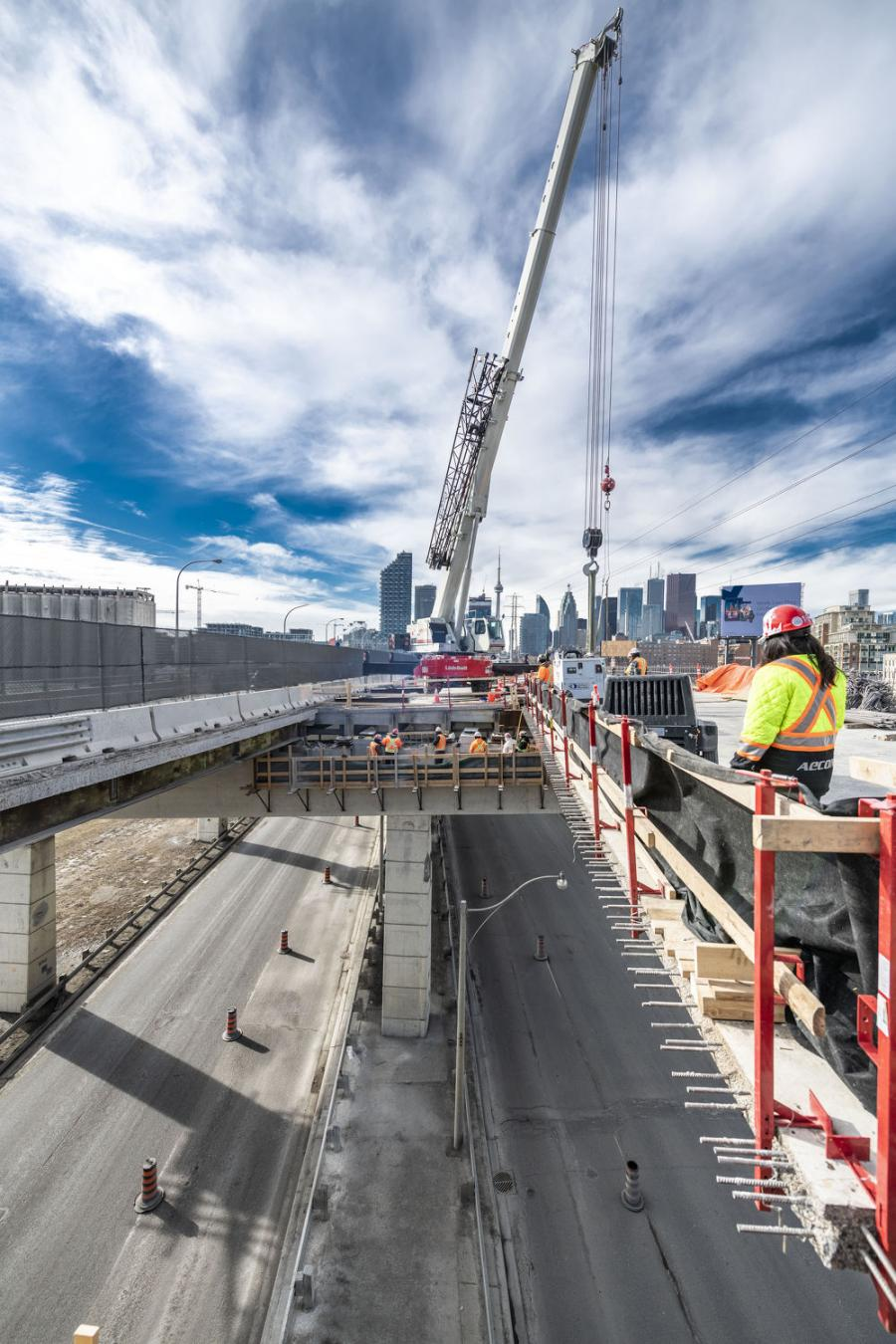 Initial construction of Phase 1 includes westbound lanes and ramps, requiring two open lanes in each direction for commuter traffic.