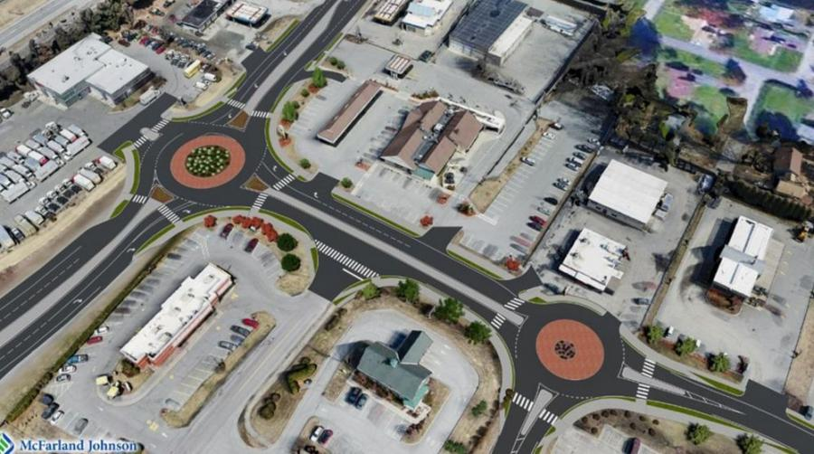 The construction of two roundabouts in Hartford, Vt., that will create safer driving and sidewalk access for pedestrians began on June 29 and will progress in seven phases that will be completed in October 2021.
