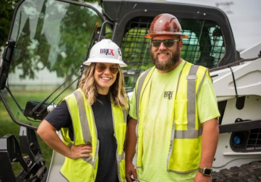 Founded in 2012 as Brentzel Excavation LLC, Brex Enterprises attributes its growth and success to building upon a solid foundation comprised of five essential components, said Alicia Brentzel, president and co-owner with husband Andrew (A.J.). (Eagle Eye Productions photo)