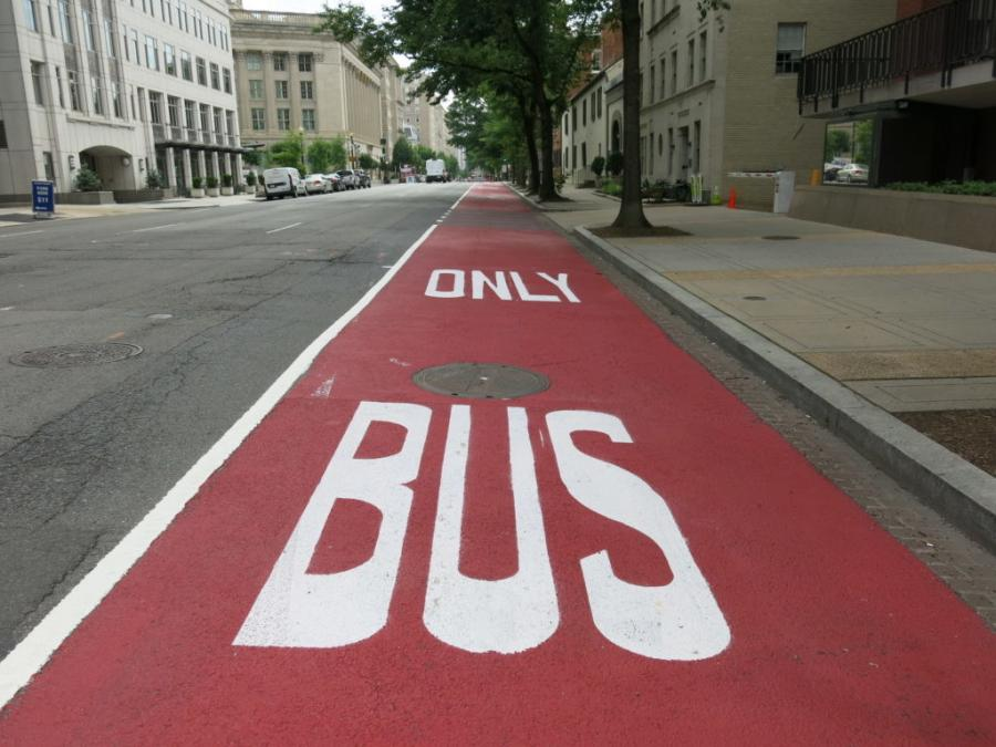 Car Free Lanes are part of DDOT's Bus Priority Program, Mayor Bowser's initiative to enhance bus service across all eight wards of the District.