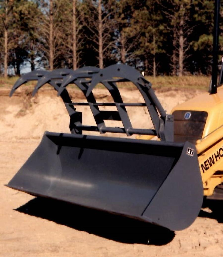 Attachments International introduced a new high-capacity bucket with free  grapple, for tractor loader backhoes.