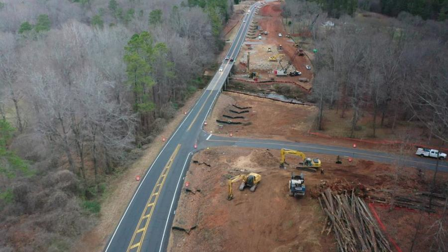 General Contractor E.R. Snell utilized Komatsu 290 excavators; John Deere 650 dozers; and John Deere 544 loaders for the State Route 11 bridge replacement project.