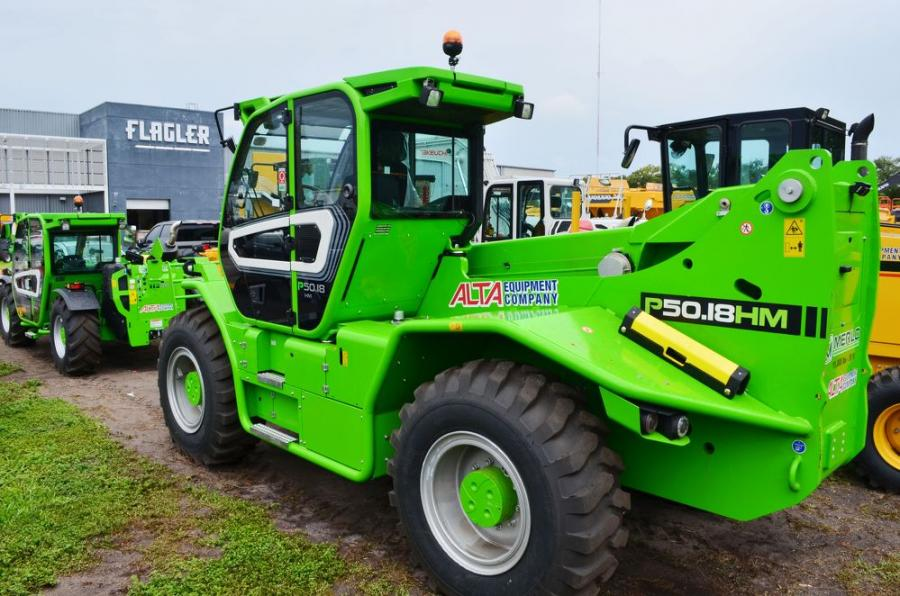 Space is made for the new Merlo telescopic handlers/telehandlers at the equipment yards at each of the Alta Florida locations.
