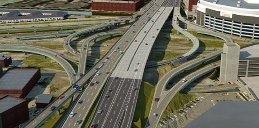 I-95 Providence Viaduct Looking North (RIDOT rendering)