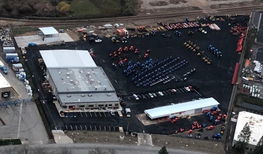Aerial shot of 3000 Pegasus Dr., Bakersfield, Calif.