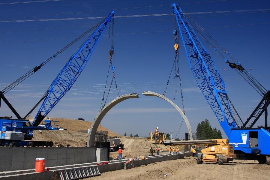 Spokane-based Max J. Kuney was the contractor for the Freya Street structures, part of the $2.2 billion North Spokane Corridor Project, which included two main-line freeway bridges over Freya, just north of Francis Avenue. Kuney, a family-owned company since 1930, focused on the transportation, bridgework and piling.