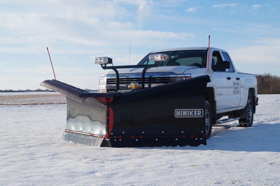 Hiniker offers a 10-ft. V-plow for bigger 4500/5500 trucks. (Hiniker Company photo)