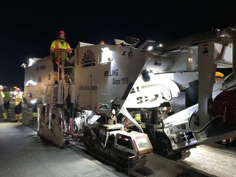 A Roadtec Rx-700e paver is on the job for the I-75 at SR 70 project.