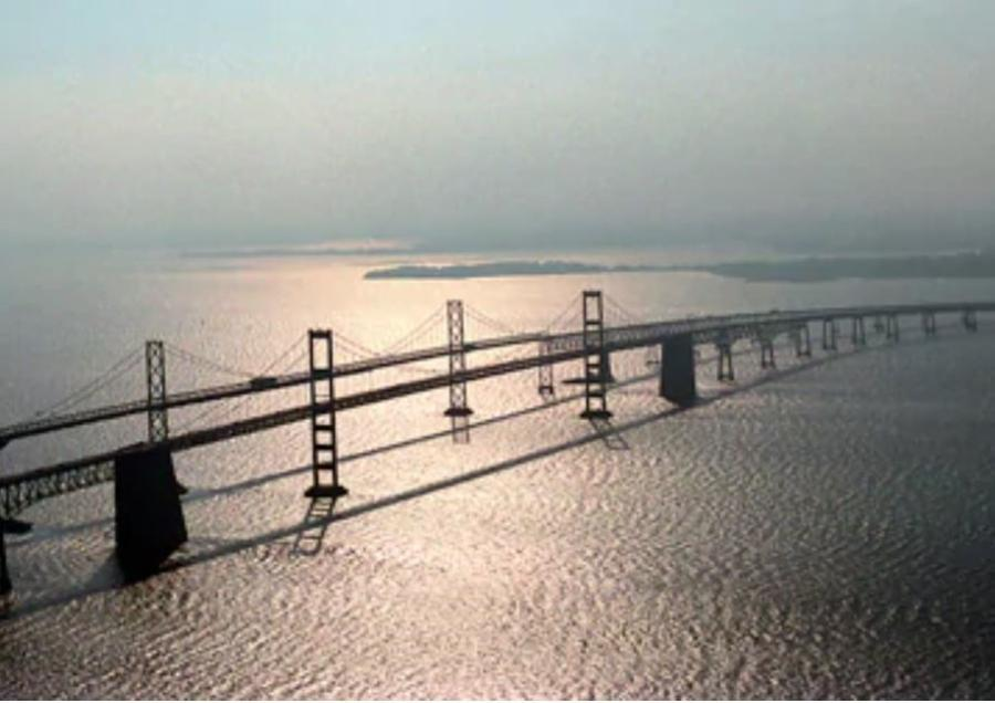 The Maryland Transportation Authority narrowed its focus to three alignments for building a third span at or near the Chesapeake Bay Bridge. (Michael Lutzky/The Washington Post photo)