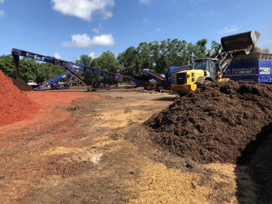 With the Edge TRC622 trommel the company went from producing 250 to 300 yds. of colored mulch an hour to more than doubling production with the machine.