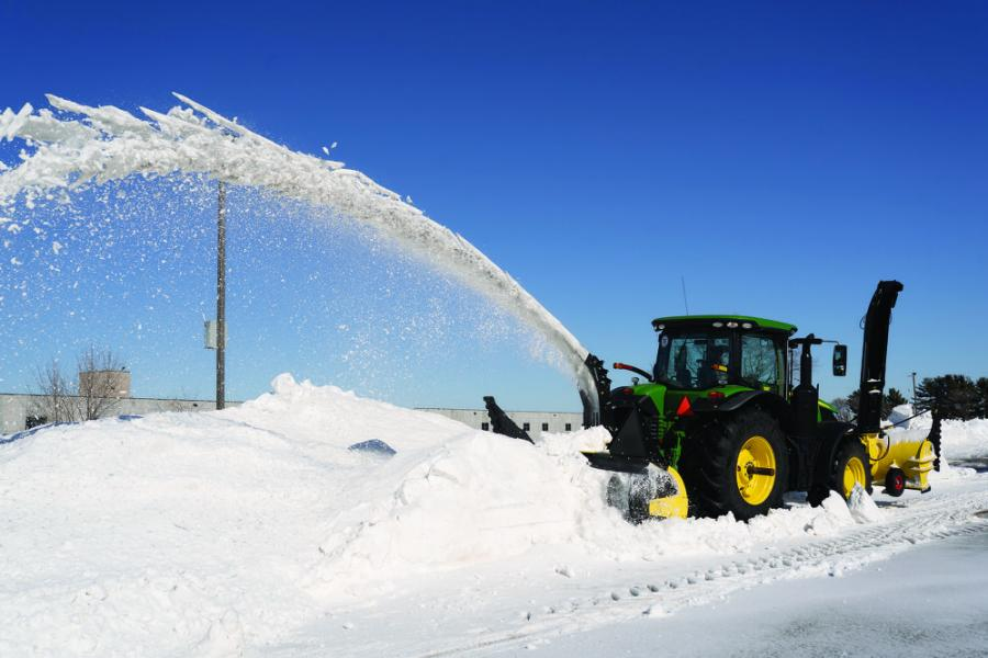 For tractors, SnowWolf offers an optional reverser that reverses the direction of the drive's rotation and makes it possible to run the blower on the front of the machine.
