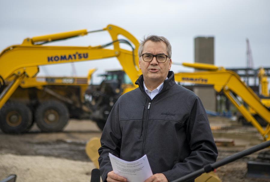 Jeff Dawes, CEO Komatsu Mining, at the groundbreaking.