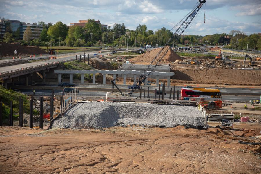 Seen here is the future alignment for the new Route 123 bridge. (VDOT photo)