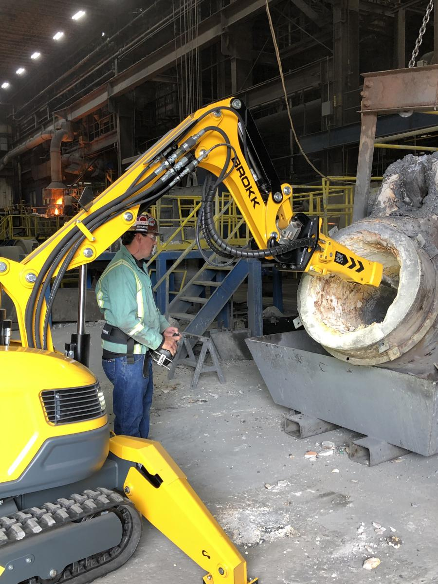 Brokk offers specialized, high-heat options, ideal for processing applications, as part of a customized remote-controlled demolition machine.