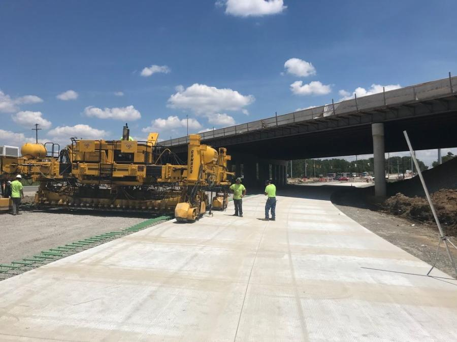 """""""Once we get to a rough grade, we cement stabilize and fine grade it, and then put a cure on it. It's a five-day cure for the cement and with that, there is a lot of planning,"""" said Tim Cunningham, S&S's project manager. (Ohio Department of Transportation photo)"""