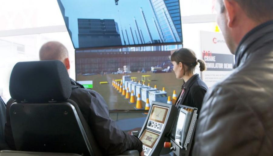 Simulators allow for demonstrating picks, swinging and other operations that are not permitted at a trade show. Attendees can take the controls in hand and run the crane through its paces in a controlled, yet realistic, environment.