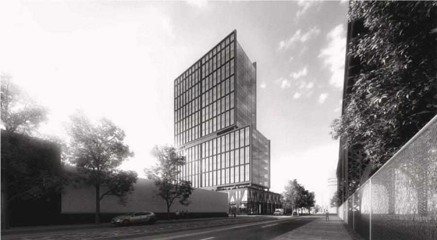 Preliminary rendering of proposed structure at 42-11 9th Street. (RXR Realty rendering)