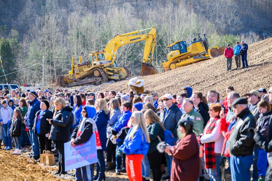 Site preparation began in January, after the $19.7 million contract was awarded to Doss Enterprises. (Gov. Jim Justice photo)