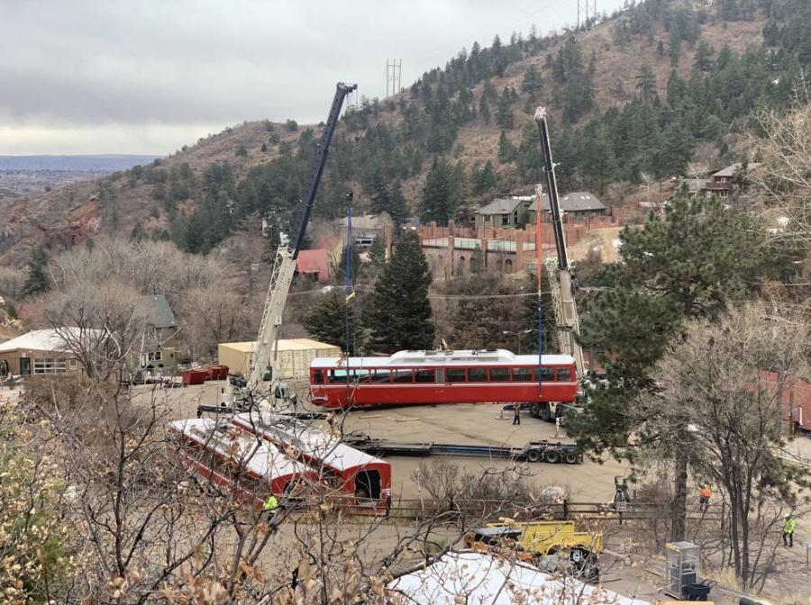 Work began in March 2019 on the $100 million project, which includes renovation of the cog railway's tracks, cogs, rail cars and depots. Construction is expected to wrap up by the end of the year.
