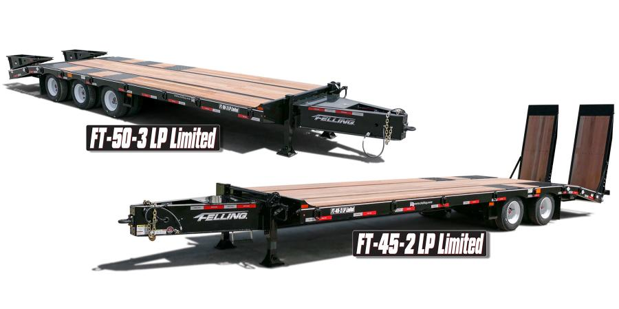 The Low Pro Limited series currently consists of two models; the FT-45-2 LP Limited, a tandem axle 22-1/2 ton, and the FT-50-3 LP Limited, a triple axle 25 ton. The available deck lengths for the tandem axle are 20, 22 and 24 ft. The available deck lengths for the triple axle are 24 and 26 ft.