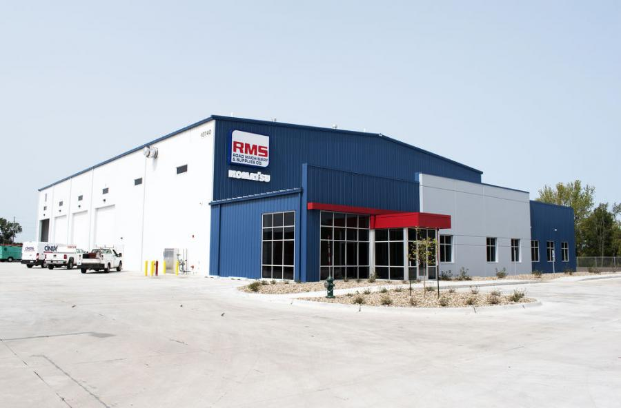 Road Machinery & Supplies Co.'s new facility in Cedar Rapids, Iowa, features a 25,000 sq.-ft. building with 10 drive-through service bays.