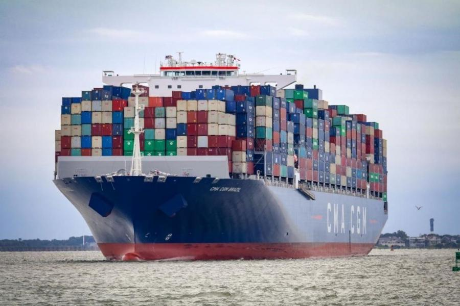 The CMA CGM Brazil, a 15,000 TEU container vessel spanning 1,200 ft. in length, sailed into Charleston's harbor Sept. 20. The ship — the largest to ever visit the East Coast, and Charleston harbor — was able to enter Charleston's harbor due to its maintained and deepened channels.