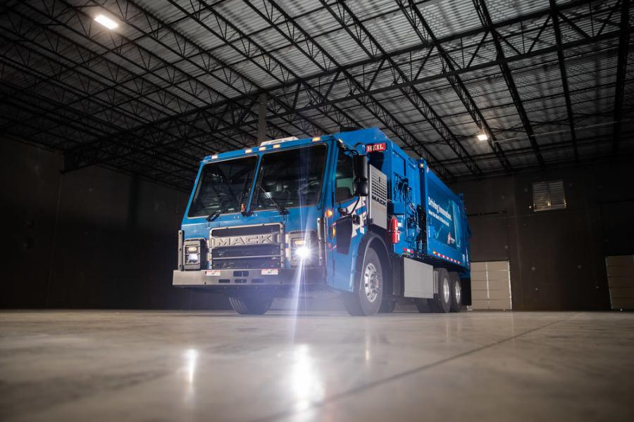 Mack Trucks delivered its Mack LR Electric demonstration model to Republic Services to begin in-service trials in the demanding refuse segment.