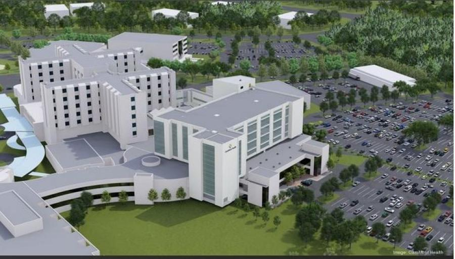 The planned critical-care tower at CaroMont Regional Medical. (CaroMont Health rendering)