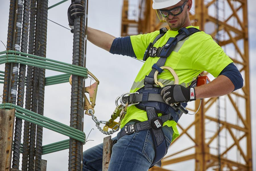 A trauma safety strap that attaches to a harness construction workers wear on the job enhances fall protection for workers. 3M of St. Paul, Minn., the company that makes the Fall Protection Suspension Safety Strap, is now including it with all harnesses it sells.
