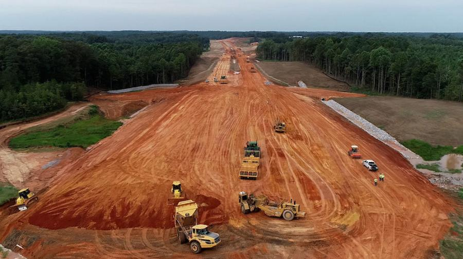 Eutaw Construction Company Inc. crews will be onsite for the construction of MDOT's $81 million State Route 76 construction in Itawamba County until the end of 2023 as they build a 9-mi. extension of the 4-lane highway.
