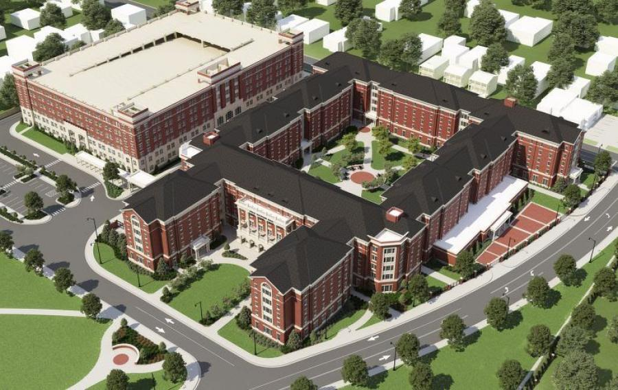 A rendering of the new Tutwiler Hall.