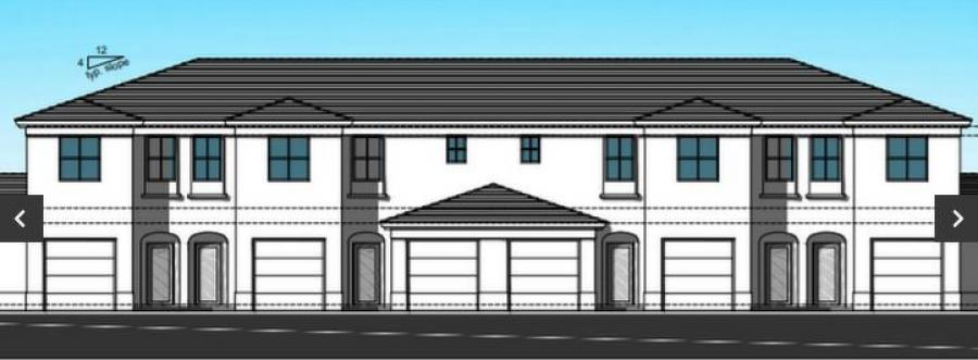 The Coral Gables-based development firms Coral Rock Development Group and the Paragon Group of Florida are building a $30 million affordable housing townhome project in Pompano Beach. (Anillo, Toledo, Lopez Architecture rendering)