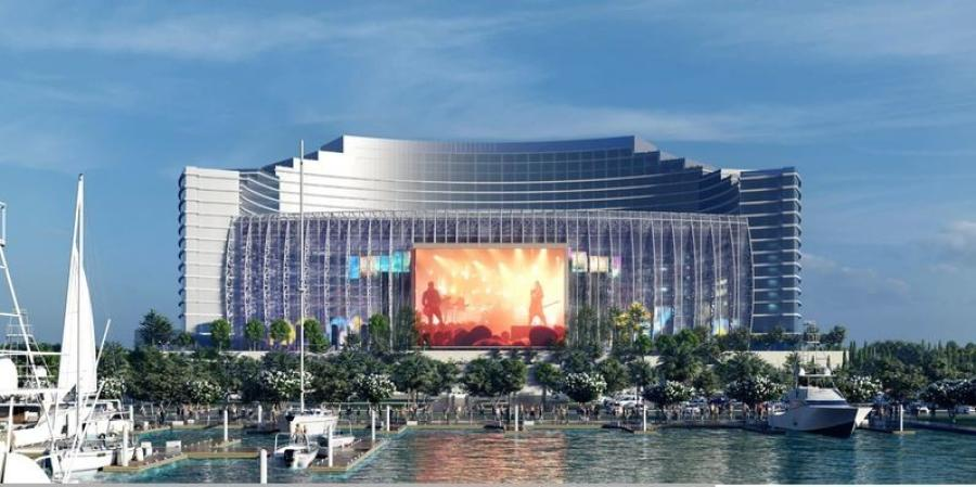 The UMUSIC hotel in Biloxi will be built on a 266 acre property that was once the gem of the Gulf Coast. (UMUSIC rendering)