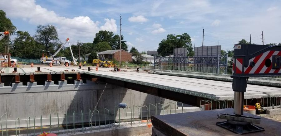 For the Orient Way Bridge, approximately 505,000 lbs. of structural steel and 1,385 cu. yds. of concrete (465 cu. yds. of precast and 920 cu. yds. of cast-in-place) were used.