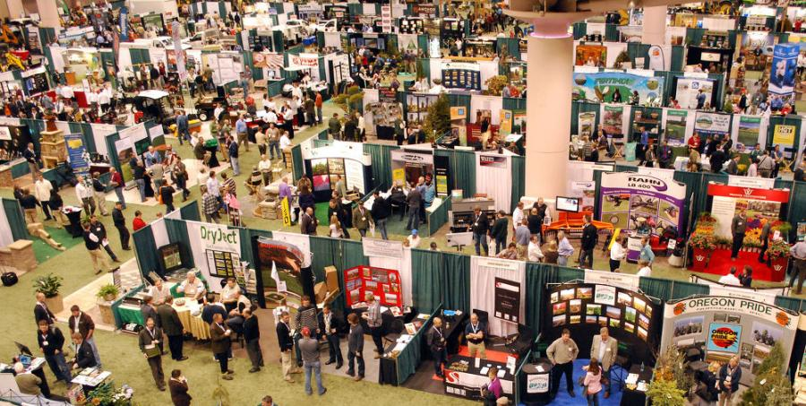 An overhead view of the Northern Green Expo floor in 2013.