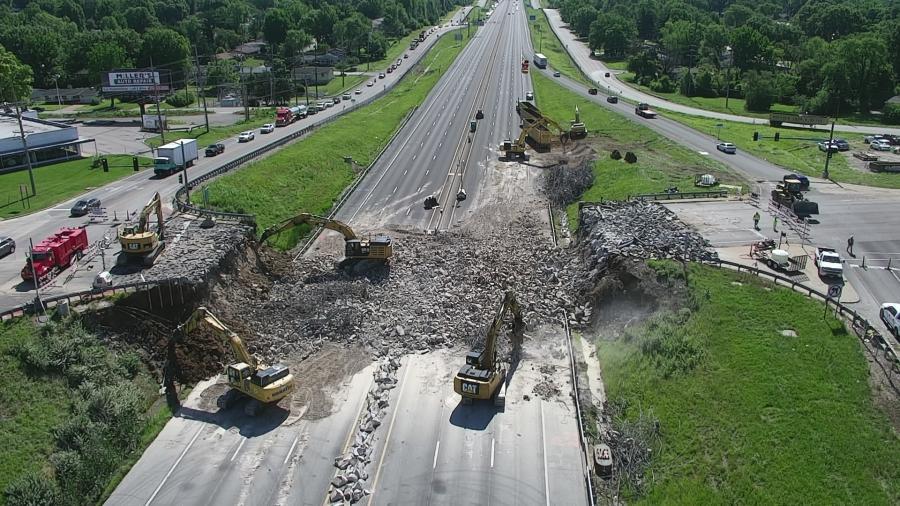 The I-270 project calls for replacing a dozen bridges and adding seven more through the corridor. (MoDOT photo)