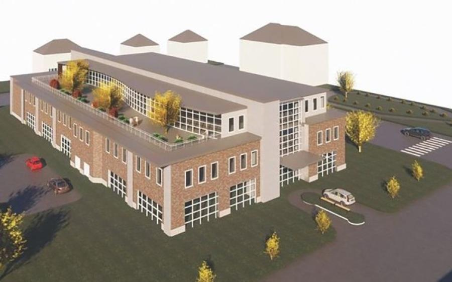 The center will consolidate radiation oncology, medical oncology and surgical oncology departments under one roof, as well as other specialties, including therapy, diagnostics, financial and nurse navigators. (Central Maine Healthcare rendering)
