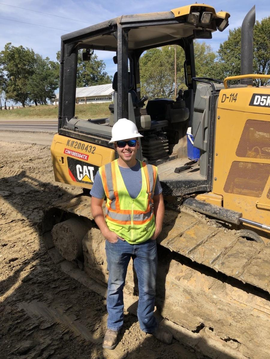 Zak Moore, 23, graduated from Texas A&M with a BA in Construction Science in 2019 and was hired by RK Hall almost immediately