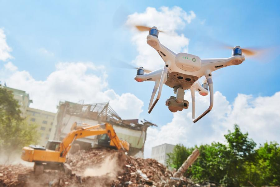 Engineers may use lifts, boats, drones and ladders — anything necessary to access the locations they need—in conducting a pre-construction survey.