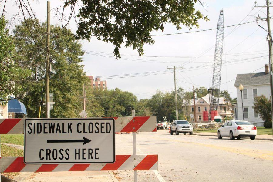 The bridge on County Road 5813 — more commonly known as College Street — has been closed since May 26. (Ivy Marie Clarke/The Cluster photo)