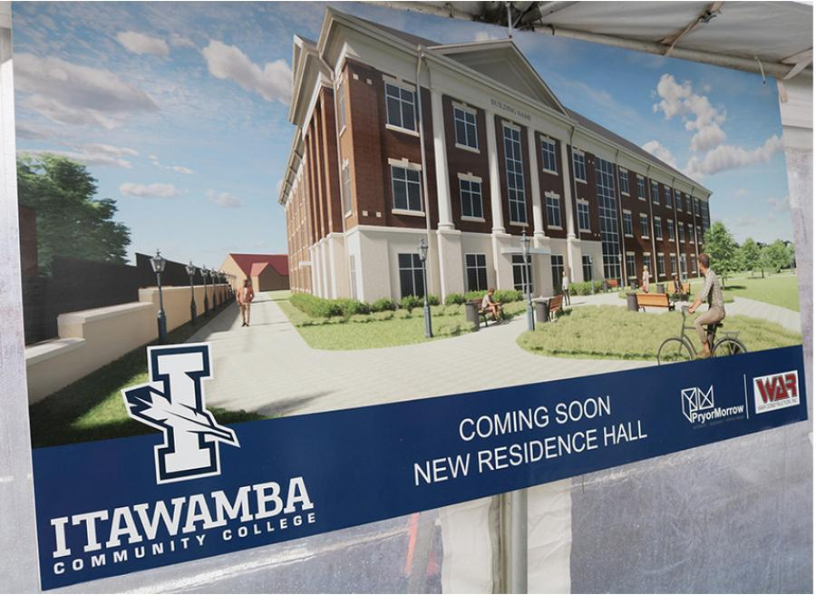 The 72,000-sq.-ft., three-story residence hall will have 246 beds with customizable halls/wings for separated male and female occupancy, as needed. It also will include two efficiency apartments and an apartment for the hall director.
