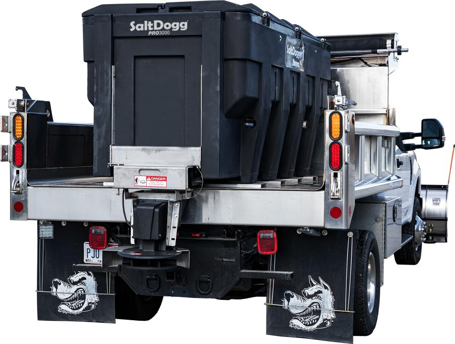 The new 9-1/2-ft. PRO3000 model boasts a 3-cu.-yd. capacity, which equates to roughly 3.2 tons of bulk #1 rock salt.